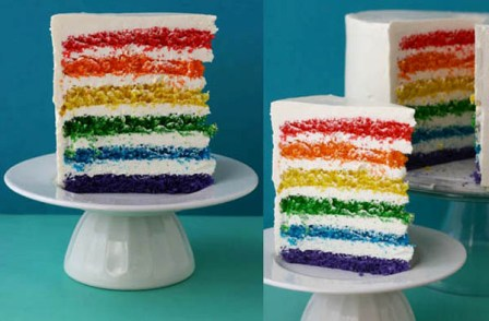 5 Delectably Unique Wedding Cake Flavors Taste the Rainbow Cake