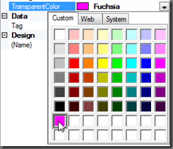 Select Created Custom Color