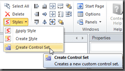 Create Control Set Ribbon