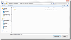 Modern Folder Browser