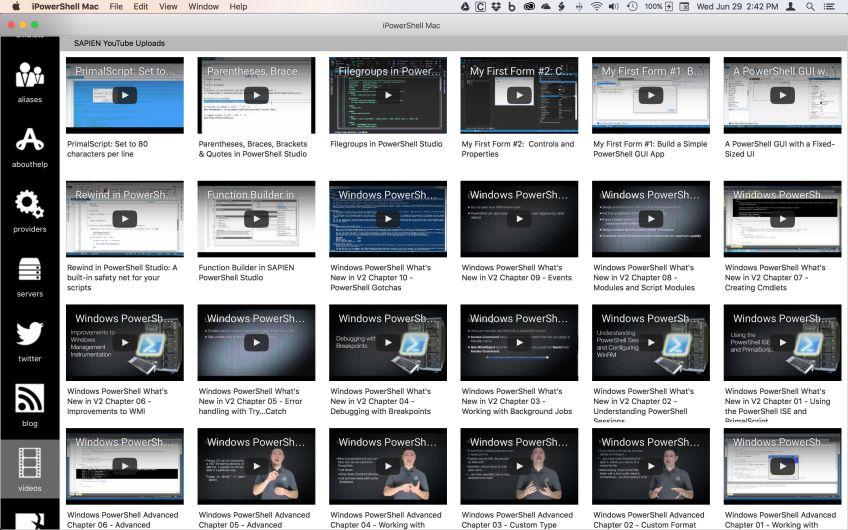 PowerShell YouTube videos