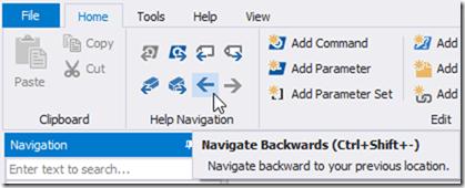 HelpWriter Navigation