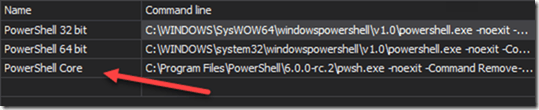 PowerShell Core Console Detection