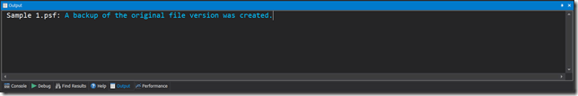 Backup Created