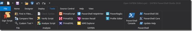 Ribbon - PowerShell Core