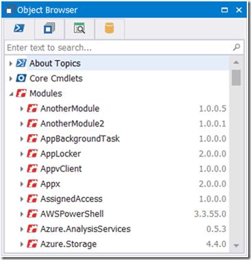 PowerShell Browser Module Versions
