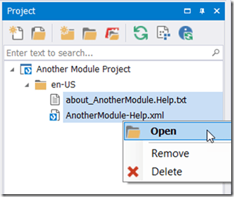 Project Pane - Multiselect