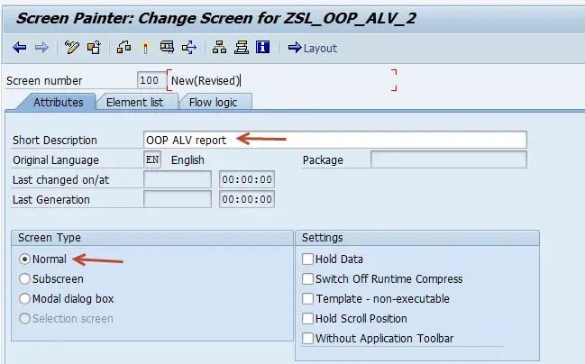 Custom screen in ALV
