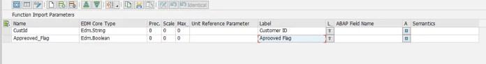 Import Parameters