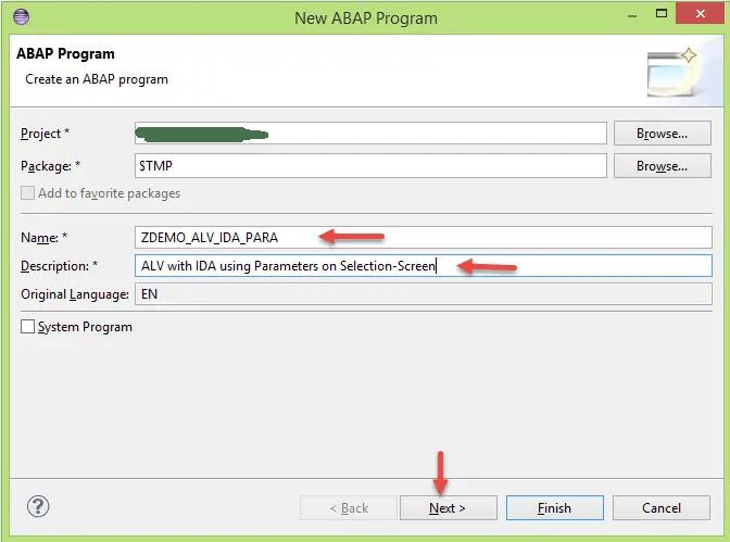New ABAP Program