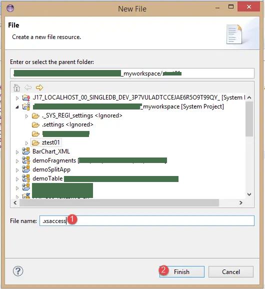 New HANA .xsaccess File