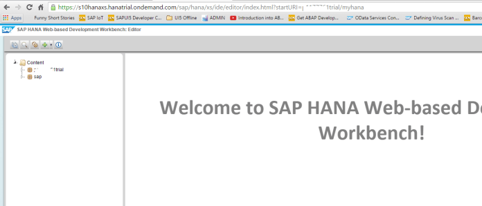 HANA Development Workbech