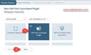 SAP Fiori Launchpad Plugin Step2
