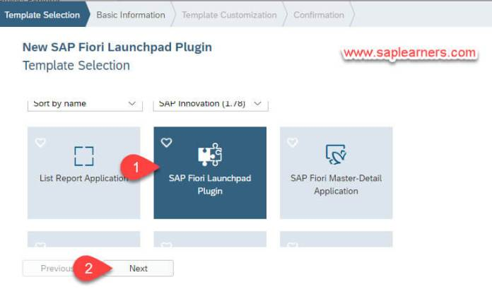 SAP Fiori Launchpad Plugin Step2