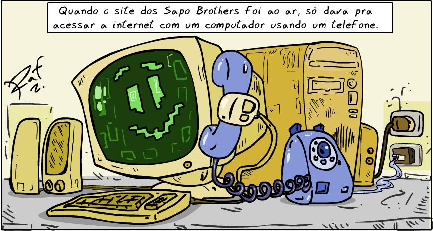 Sapo Brothers, 20 anos, diversão, tiras, humor, games, jogos, animação, anima, quadrinhos, infantil, minja, jones