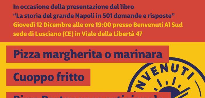 Pizza e pallone, oltre la passione, giovedì 12 al Benvenuti al Sud di Lusciano con Bruscolotti e Casale.