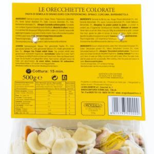 Orecchiette Colorate OroGiallo 500g