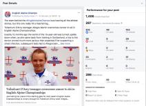 English Alpine Champs Social Media Results