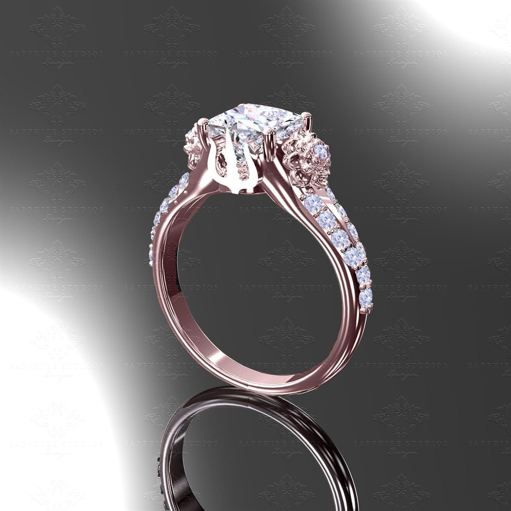Eternal Rose Gold Inspired Final Fantasy Engagement Ring