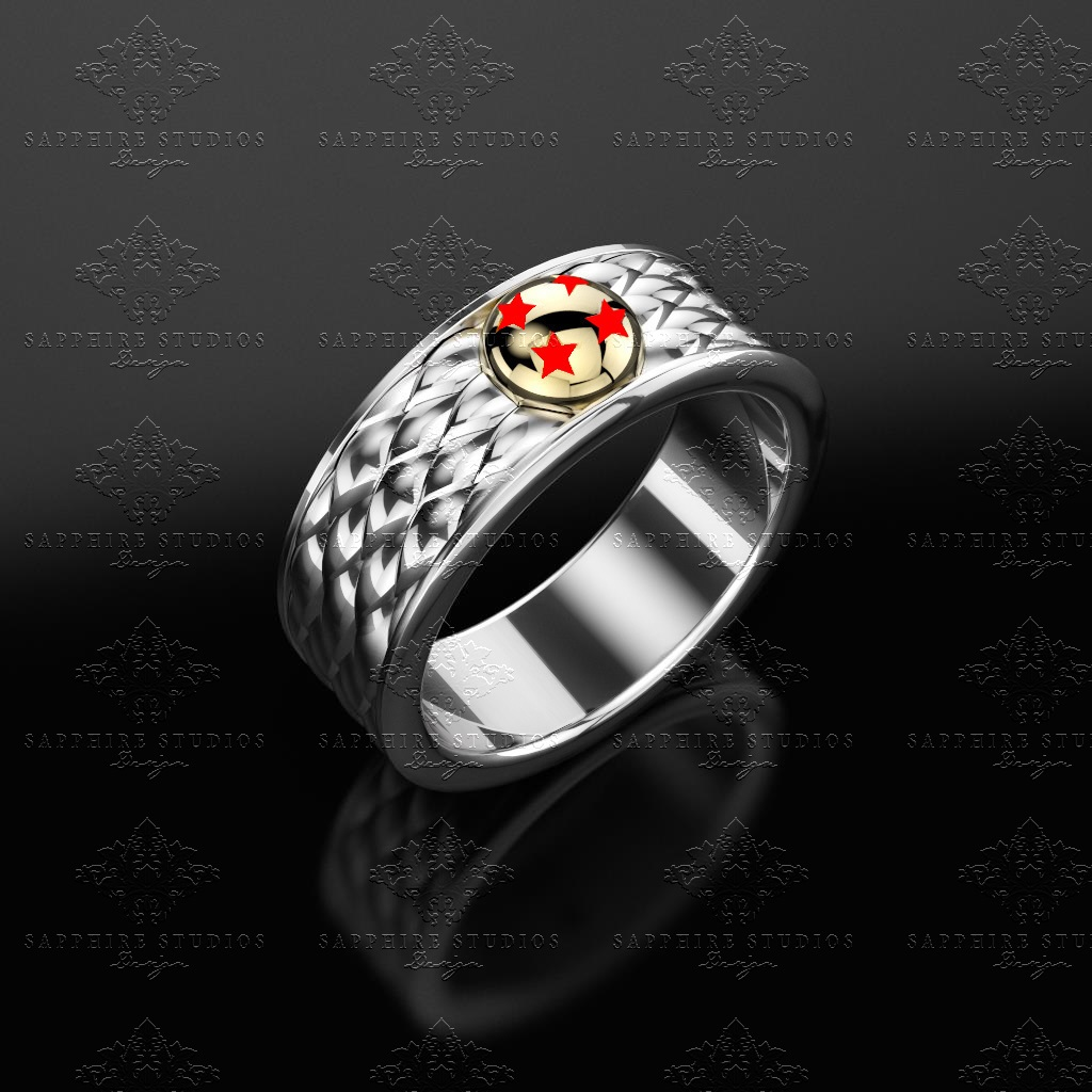 Reign Black Gold Inspired Dragon Ball Z Mens Band