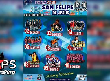 Feria San Felipe Orizatlán, Cartelera Oficial