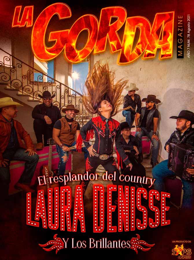 Laura Denisse y Los Brillantes, Portada La Gorda Magazine Agosto 2021
