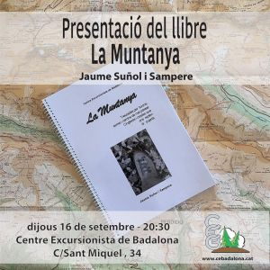 Presentacio la Muntanya al Centre Excursionista de Badalona