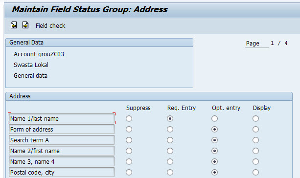 How to customizing the fields in customer master screens in