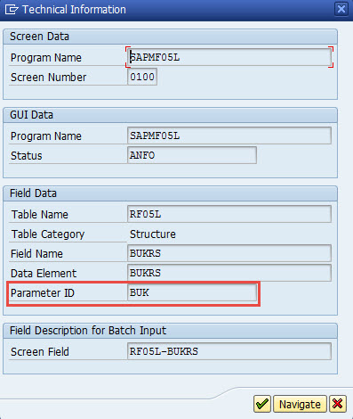 How to use User Parameter to Populate Transaction Fields
