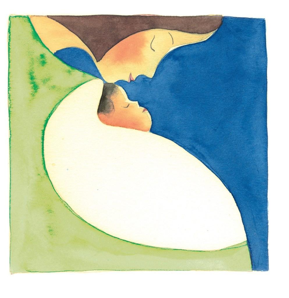 """لوحة فنية من كتاب اليساندرو سانا """"كريسندو""""."""