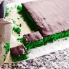 Giftkage med chokoladeglasur