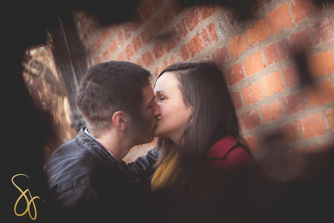 Alicia + Blake | Sara Johnson Photography | Rockford, IL | Downtown Galena, IL Winter Lovebird Engagement Session
