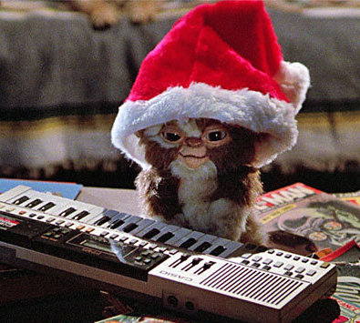 Gremlins Feature Image - Gizmo in a Christmas Hat