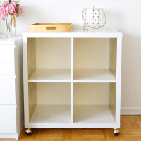 DIY White + Gold Bar Cart (IKEA Hack)
