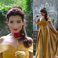 Belle Gold Dress Costume + Cosplay