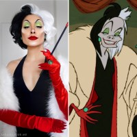 Cruella de Vil Cosplay Makeup + Costume