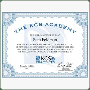 Certification: KCS
