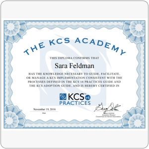 Certification: KCS