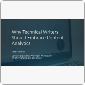 Webinar: Content Analytics for Technical Writers