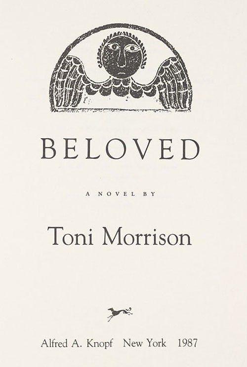 Beloved Baby Names 2015 Top Ten Baby Names: BOOK LOVE: Beloved By Toni Morrison