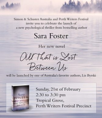 Sara's Launch invitation