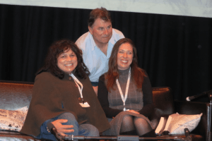 Sulari Gentill, Michael Cathcart, and me at the Margaret River Readers and Writers Festival