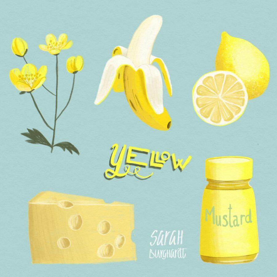 Food Illustration yellow