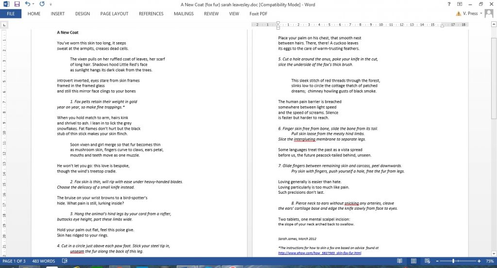 The poem in 2012 draft form.