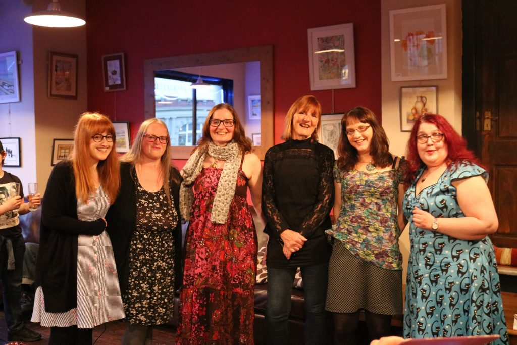(from left to right) Charley Barnes, Nina Lewis, Jenny Hope, Liz Kershaw, Holly Magill.