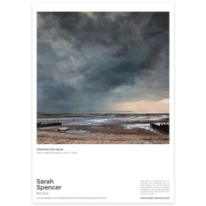 Whitstable West Beach, Fine Art Poster
