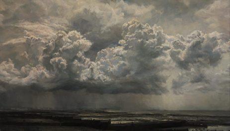 Bright Light West, Seascape. Oil on panel (57 x 84cms)