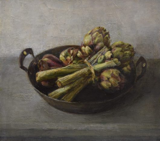 Artichokes. Oil on panel. (30 x 30 cms)