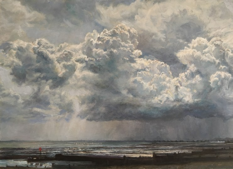 Whitstable Evening Seascape, 35 x 43 cms