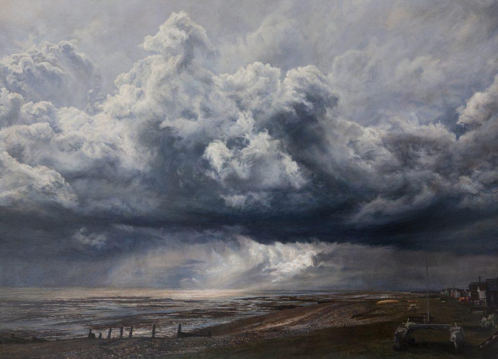 Seasalter Seascape, Lockdown. Oil on panel. 81 x 106 cms